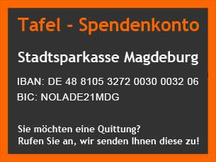 Tafel Magdeburg - Spendenkonto