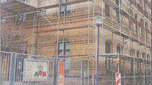Dacharbeiten am AQB-Haus